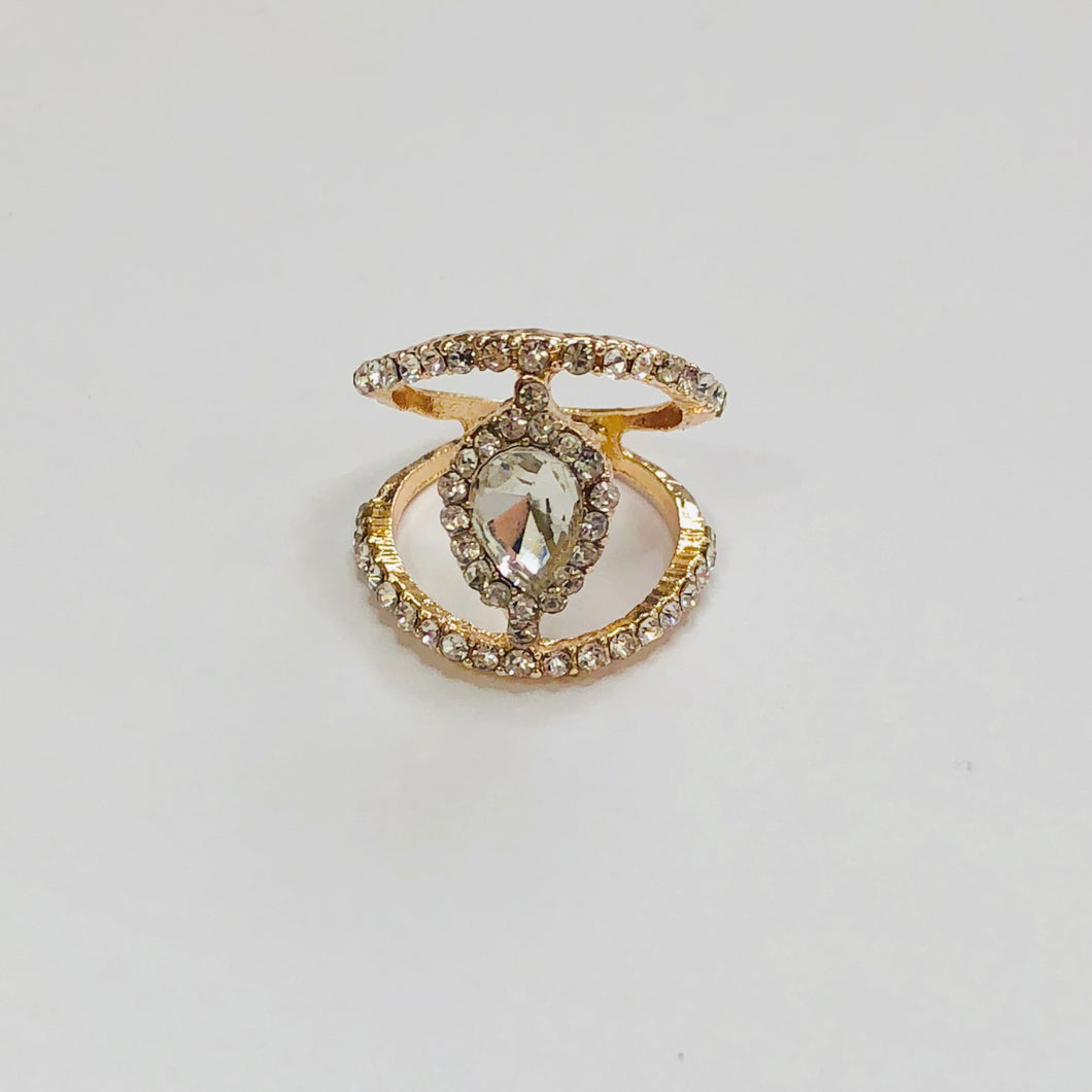 Oval Dual Lined Ring