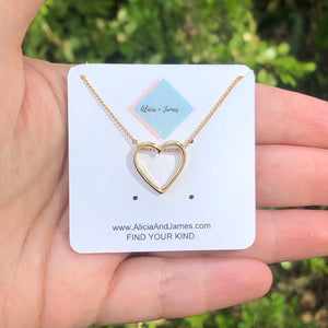Hazel Heart Necklace
