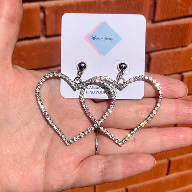 Dani Diamond Heart Earrings