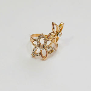 Double Floral Ring