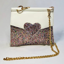 Load image into Gallery viewer, Hillary Glitter Heart Purse