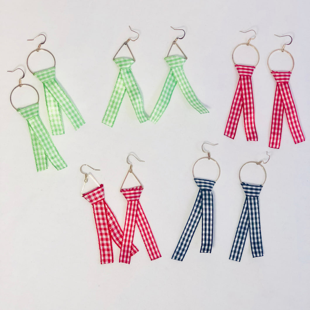 Gayle Gingham Earrings