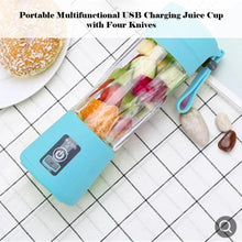 Load image into Gallery viewer, USB Rechargeable Portable Easy Blender Mini Juicer Multi-Function USB Charging Juice Cup Fruit Electric Juice Mixing Cup