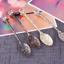 Load image into Gallery viewer, 1Pc Crystal Head Pattern Vintage Tea Spoon Coffee Scoops Multi-Color Carved Design Festival Party Spoon Scoops #251445