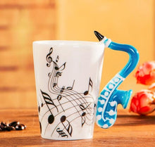 Load image into Gallery viewer, Creative Music Violin Style Guitar Ceramic Mug Coffee Tea Milk Stave Cups with Handle Coffee Mug Novelty Gifts