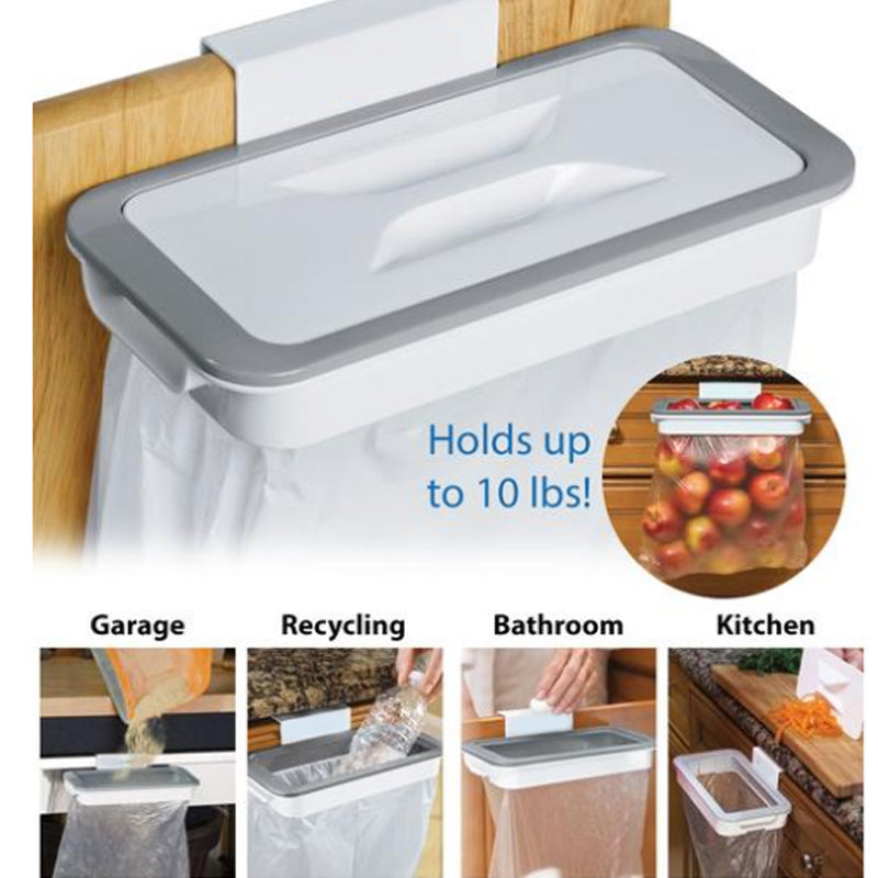 Kitchen Trash Bag Storage Rack Cupboard Kitchen Bathroom Hanging Holders Trash Toys Food Containers Kitchen Accessories Supplies