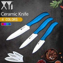"Load image into Gallery viewer, XYj Ceramic Knife Kitchen Knife Set New Arrival 2018 Light Weight Kitchen Ceramic Knife Set 3"" 4"" 5"" inch Cooking Knife Tools"