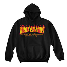 Load image into Gallery viewer, Abracadabs Flame Hoodie Black