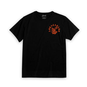Abracadabs Old English Black & Orange Shirt - ABRACADABS