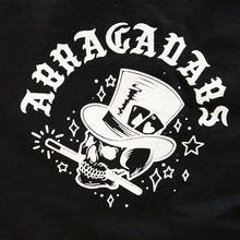 Load image into Gallery viewer, Abracadabs Skull Top Hat Black Long Sleeve - ABRACADABS