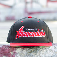 Load image into Gallery viewer, Abracadabs Black Red Los Ganjales Hat - ABRACADABS