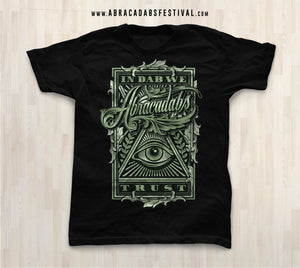 "Abracadabs ""In Dabs We Trust"" Black Tee - ABRACADABS"