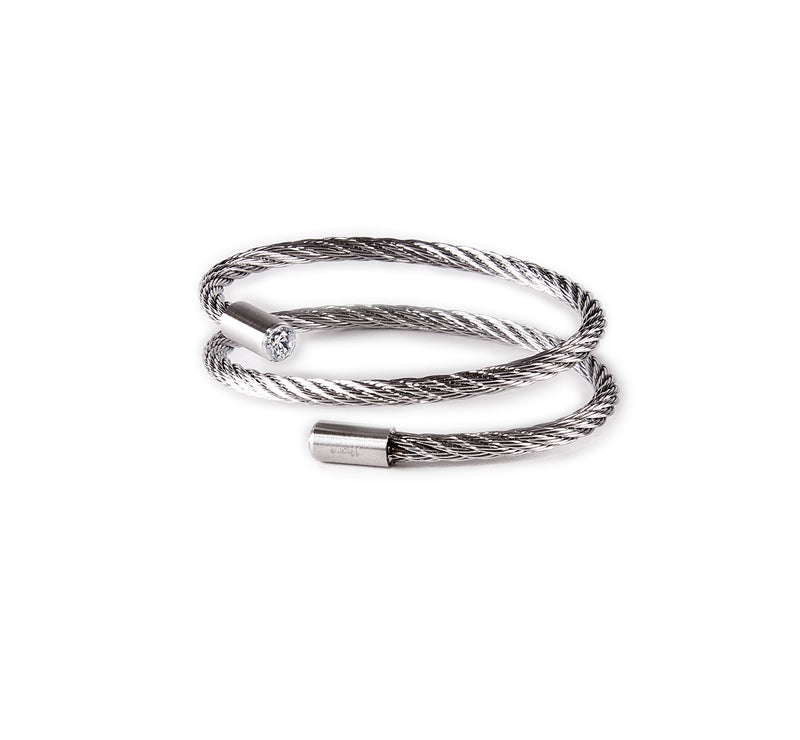 B.Tiff Double Wrapped Cable Bracelet