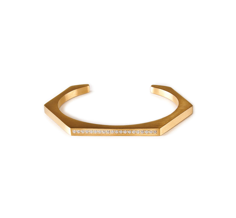 B.Tiff Edge Pave Hexagon Bangle Bracelet