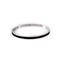 "B.Tiff ""The Hamptons"" Black Enamel Bangle Bracelet"