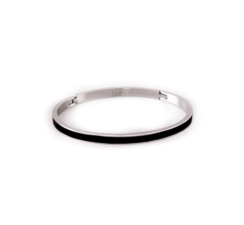 B.Tiff PURE Black Enamel Bangle Bracelet