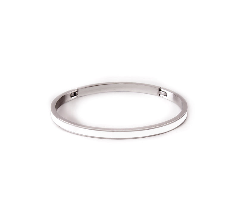 B.Tiff PURE White Enamel Bangle Bracelet
