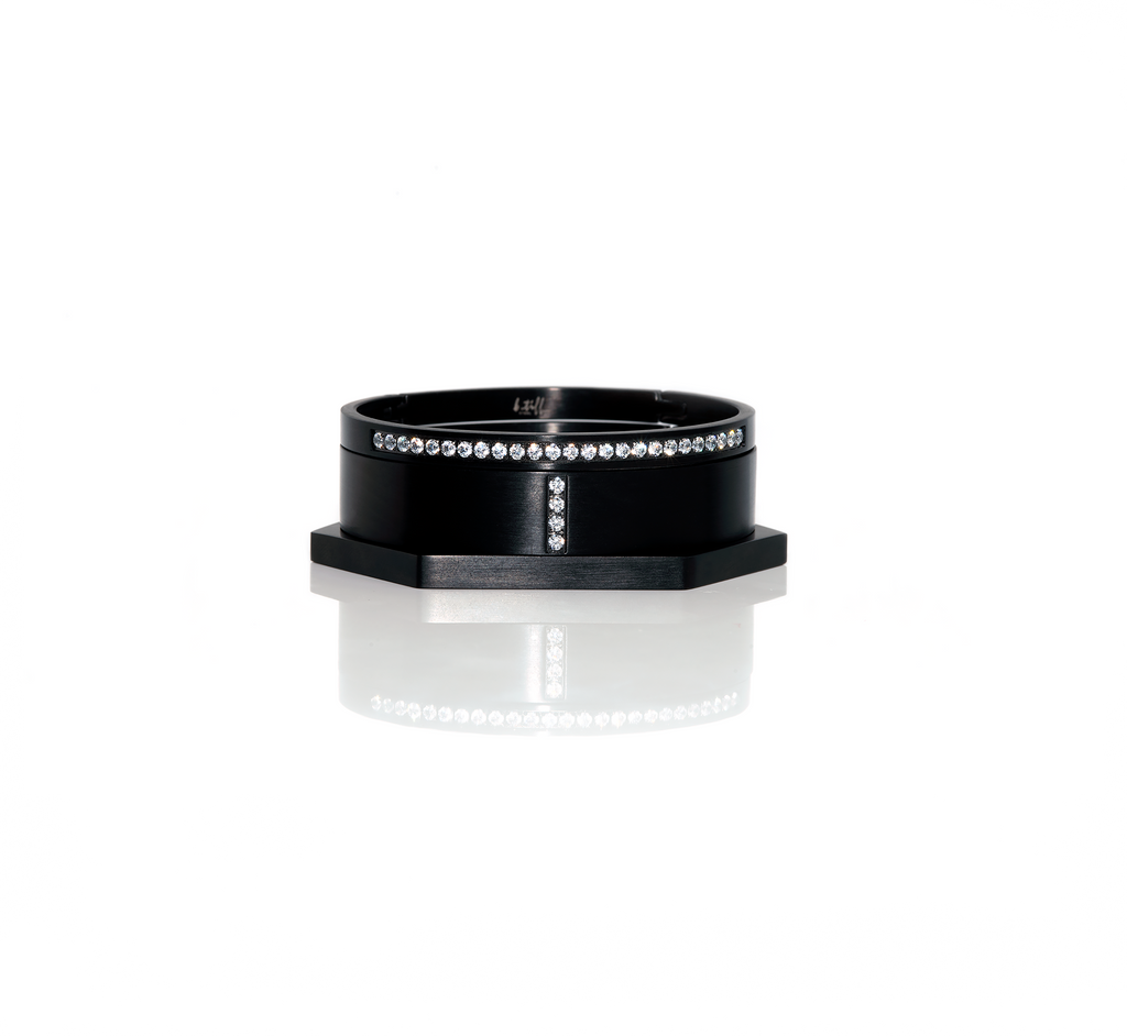 B.Tiff Pave Noir Bangle Set