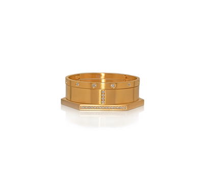 B.Tiff Golden Royale Bangle Set
