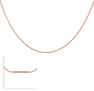 B.Tiff Rose Gold Diamond Cut Necklace