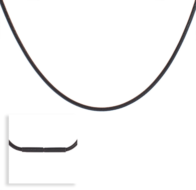 B.Tiff Thick Black Coil Necklace
