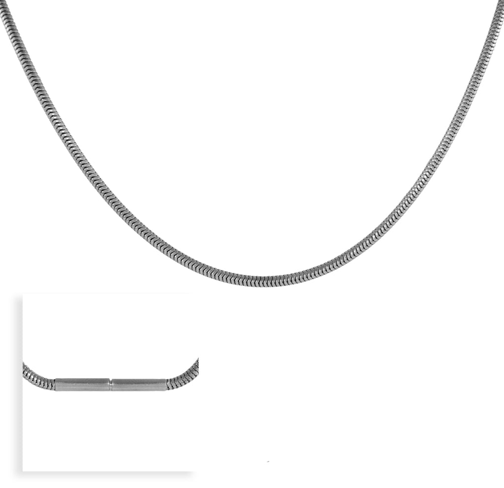 B.Tiff Thick Stainless Steel Coil Necklace