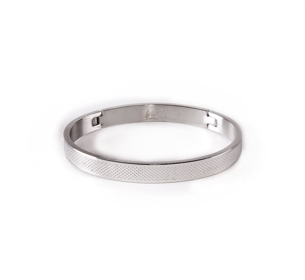 B.Tiff PURE Cross Hatch Bangle Bracelet
