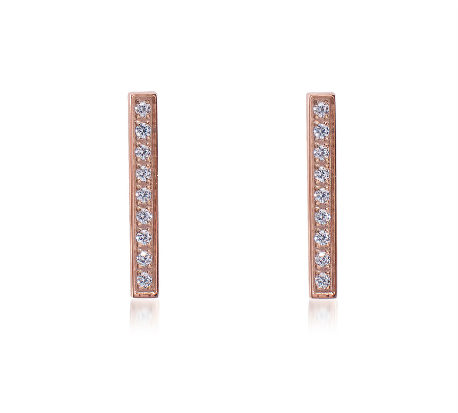 B.Tiff 9-Stone Short Bar Earrings