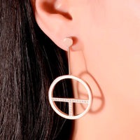 B.Tiff Logo T Bar Earrings