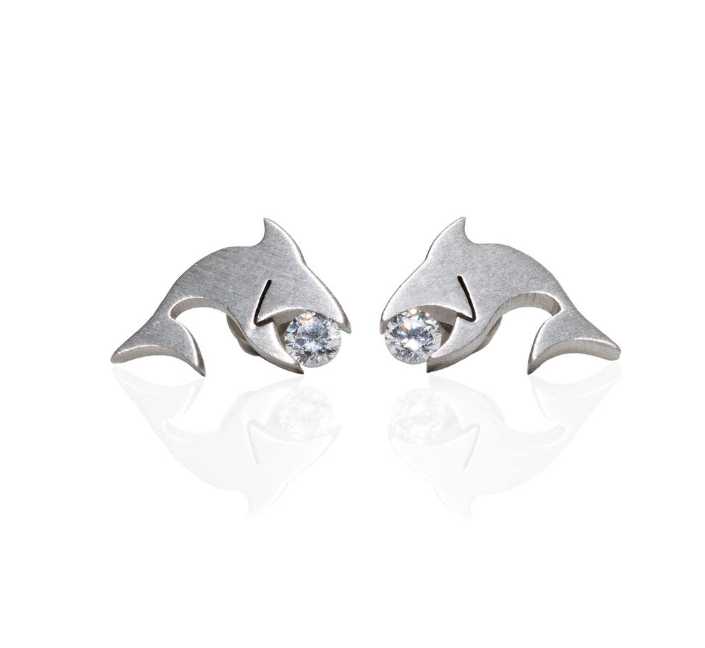 B.Tiff Shark Earrings