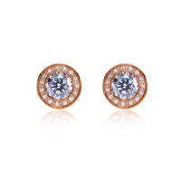 B.Tiff 1 ct Aŭreolo Earrings