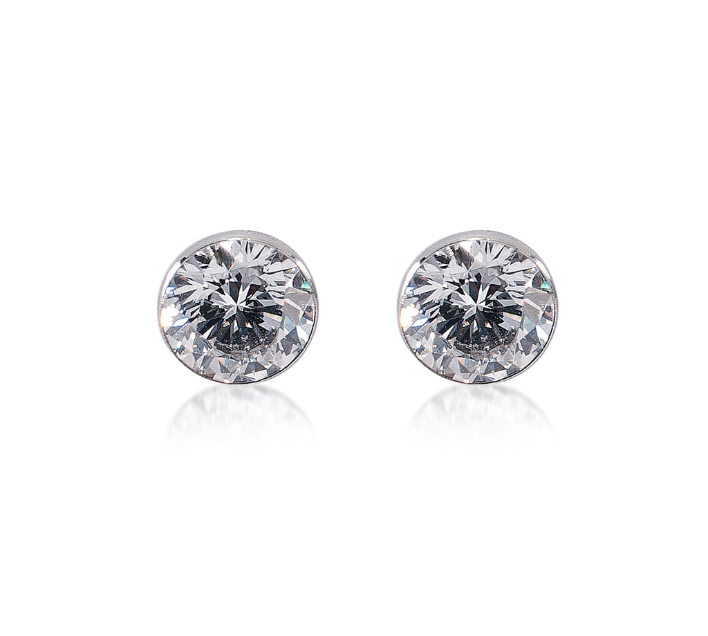 B.Tiff 2 ct Solitaire Stud Earrings