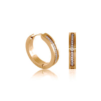 B.Tiff Pave 34-Stone Hoop Earrings