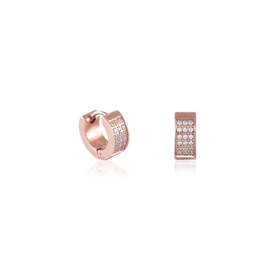 B.Tiff Pave Huggie Earrings