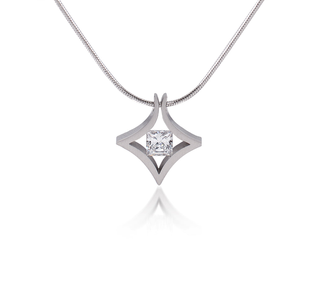 B.Tiff Natal 1 ct Princess Cut Pendant