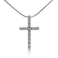 B.Tiff Box Cut Cross Pendant