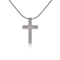 B.Tiff Pave Set Cross Pendant