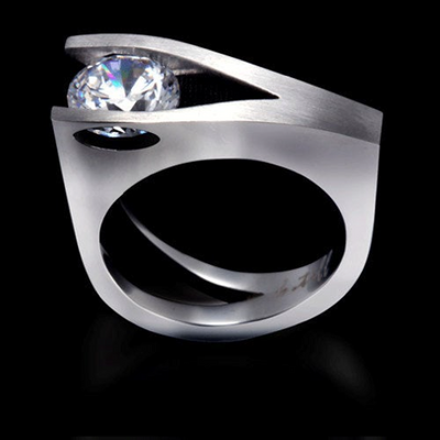B.Tiff Wishbone 2 ct Solitaire Ring