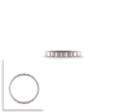 B.Tiff Simplicity Box Cut Stacking Ring