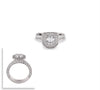 B.Tiff Aŭreolo II 1 ct Cushion Cut Halo Engagement Ring