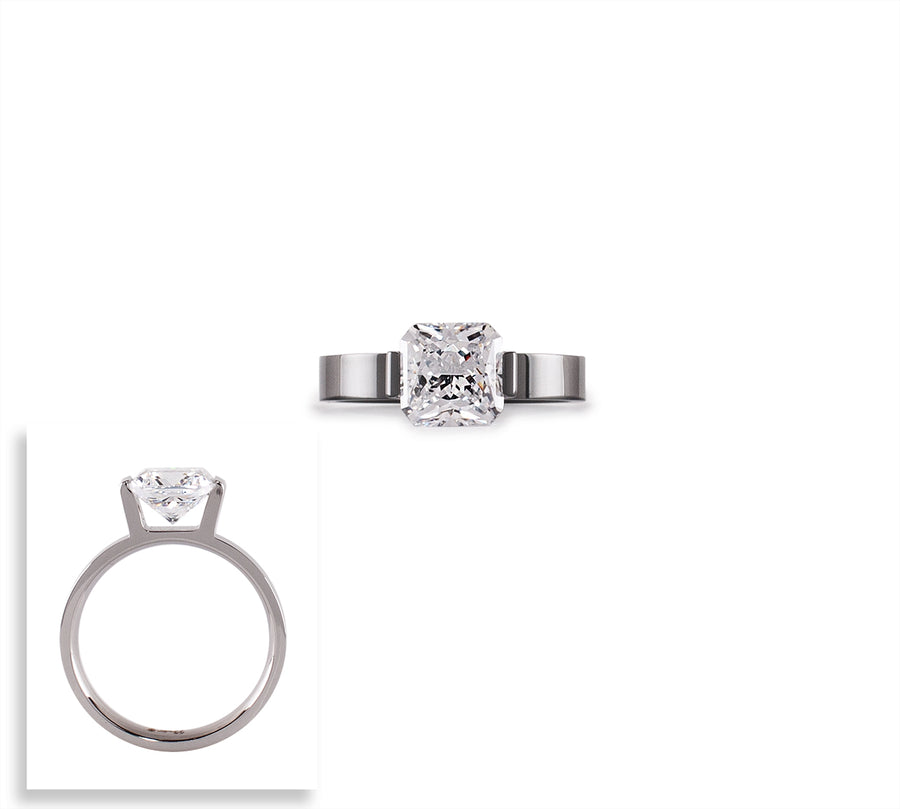 B.Tiff 2 ct Cushion Cut Engagement Ring