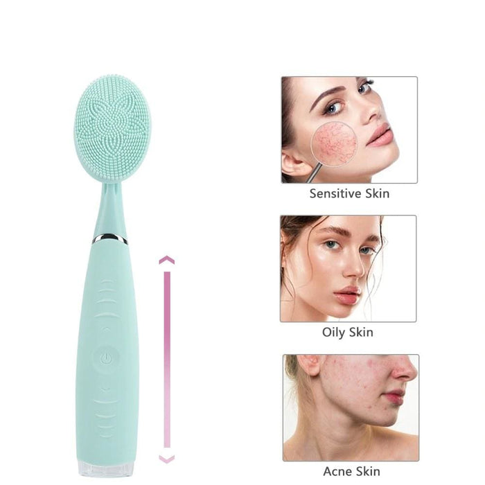 Electric Silicone Facial Cleaning Brush - Home