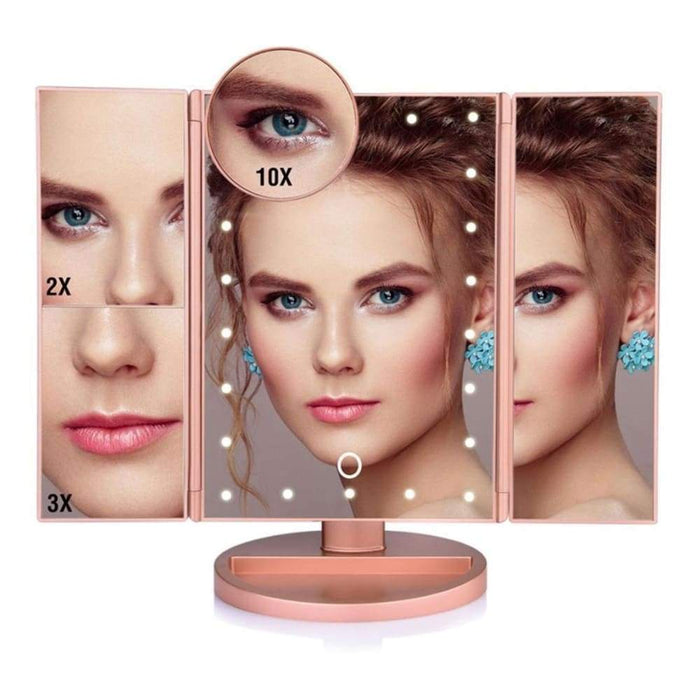 Hollywood Style LED Touch Makeup Mirror - Pink - Home