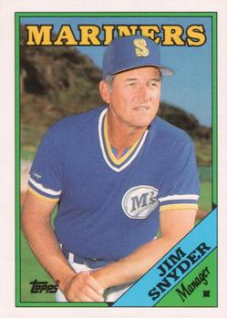 1988 Topps Traded 112T JIM SNYDER MARINERS