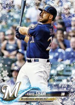 2018 TOPPS WALMART HOLIDAY SNOWFLAKE HMW198 TRAVIS SHAW BREWERS