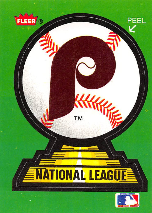 1988 FLEER TEAM LOGO STICKER NNO PHILADELPHIA PHILLIES