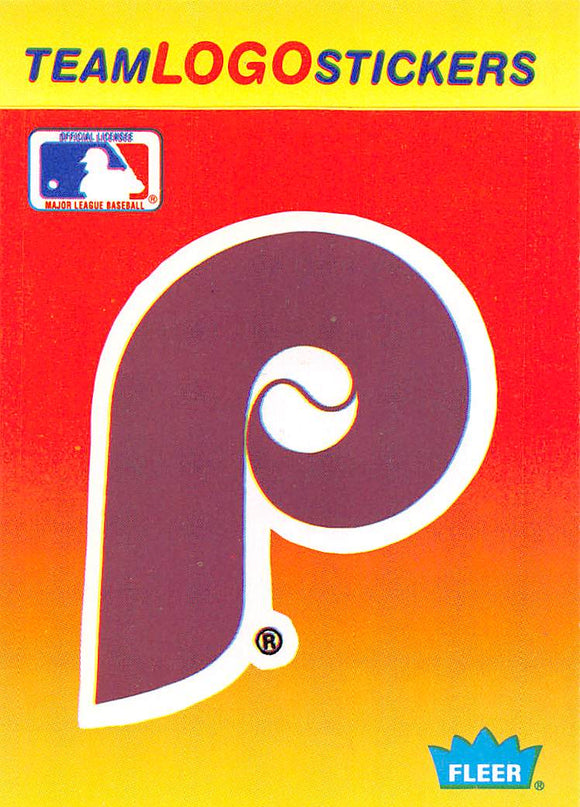 1991 FLEER TEAM LOGO STICKER NNO PHILADELPHIA PHILLIES THICK OUTLINE
