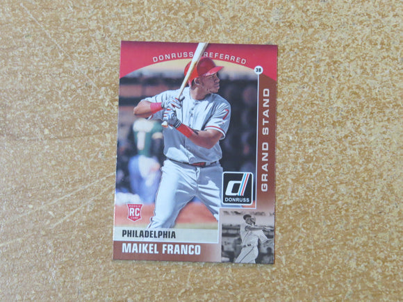 2015 DONRUSS PREFERRED BRONZE 11 MAIKEL FRANCO PHILLIES RC