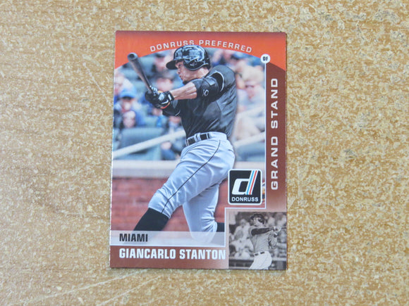 2015 DONRUSS PREFERRED BRONZE 25 GIANCARLO STANTON MARLINS