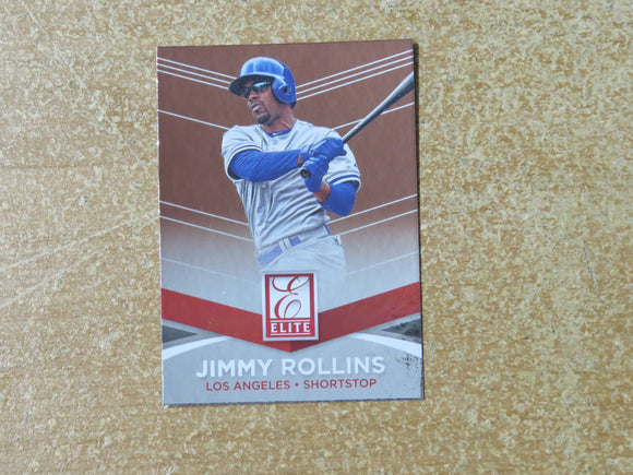 2015 DONRUSS ELITE INSERTS 21 JIMMY ROLLINS DODGERS